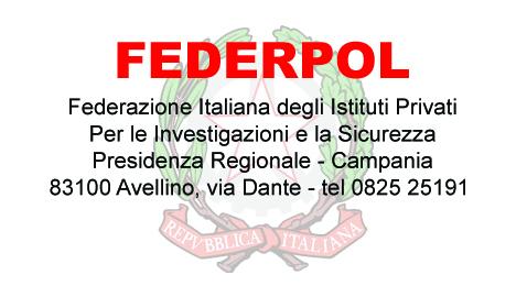 FEDERPOL- Per le Investigazioni e la Sicurezza, sabato 24 novembre
