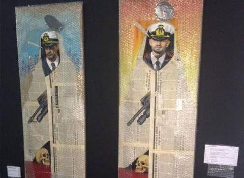 J.Scordato: dipingere testicoli con le fattezze dei Marò per protesta